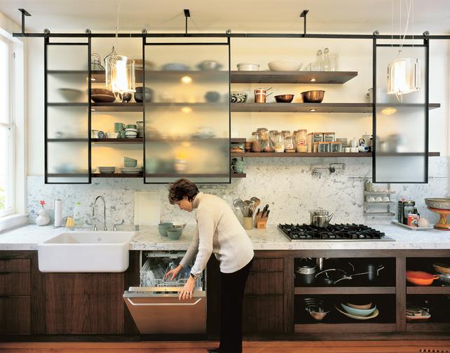 Оригинальный интерьер кухни фото